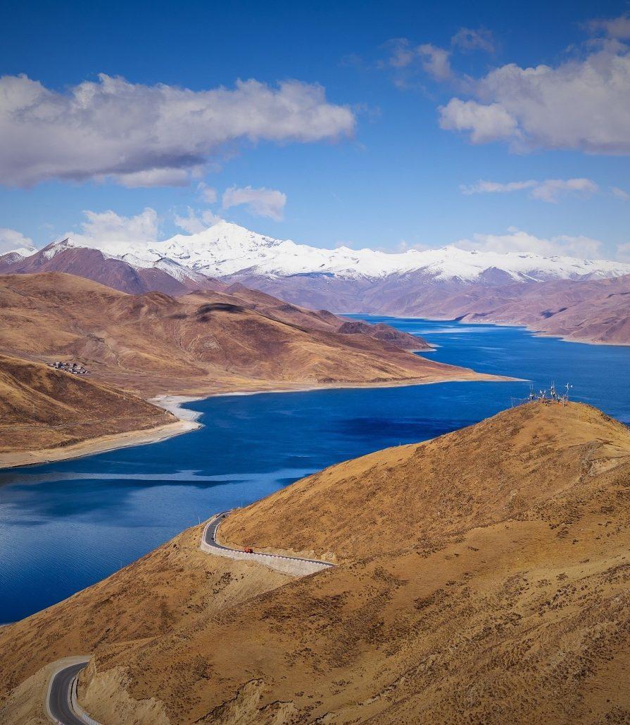 jezero Yamdrok Tso, Tibet