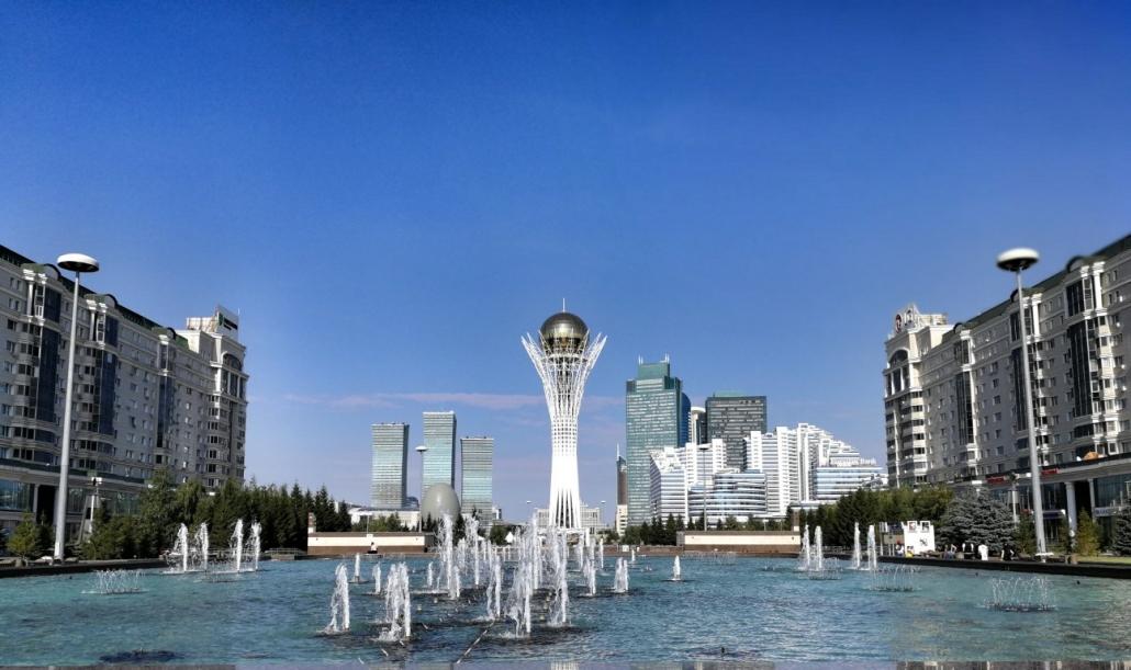Nur Sultan, stolp Beiterek, Kazahstan