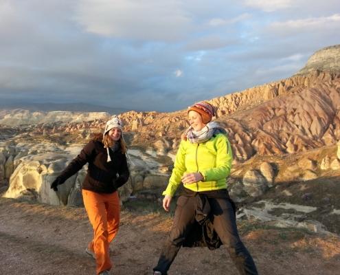 Nina in Marijana v Kapadokiji