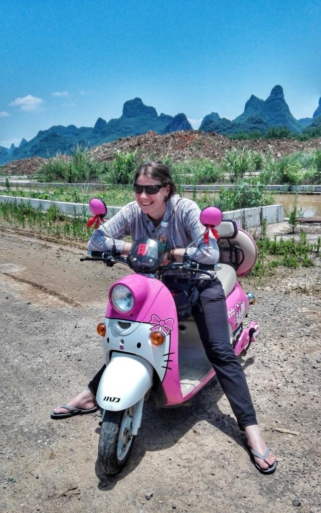 S skuterji po najlepši pokrajini Kitajske