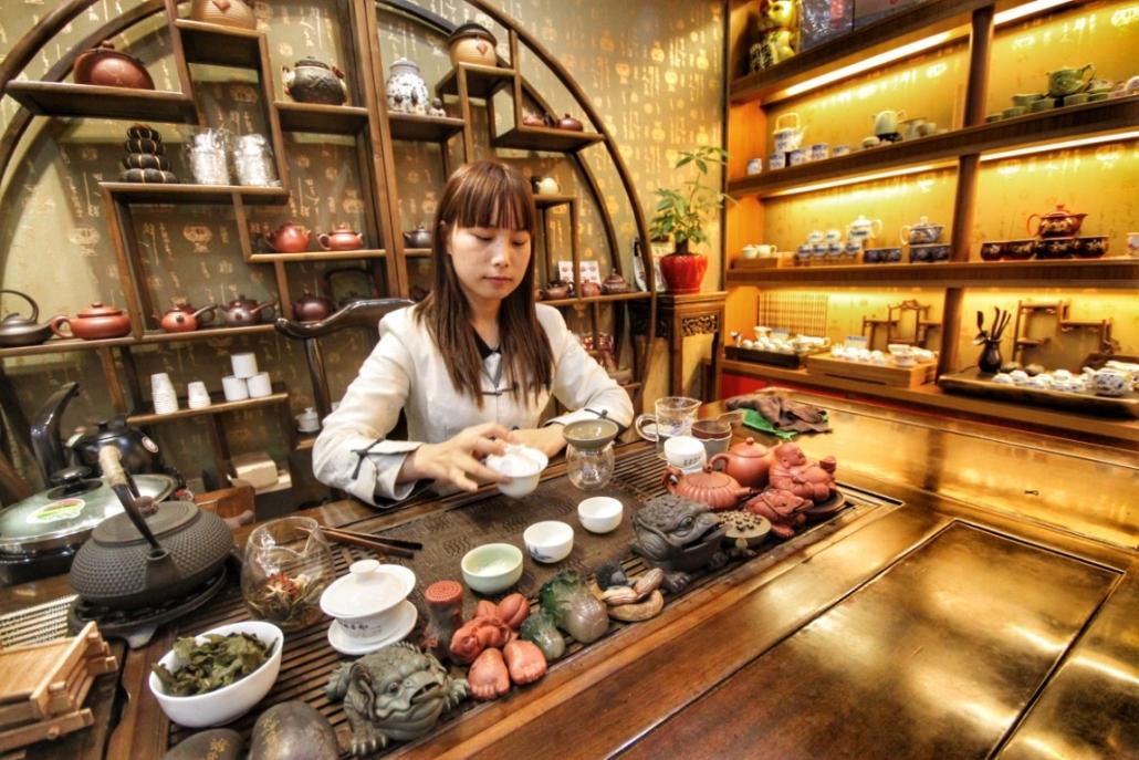 V tradicionalni kitajski čajnici