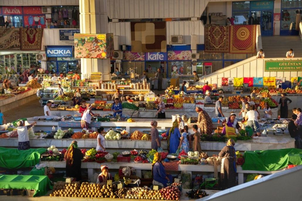 tržnica v Aškabadu, Turkmenistan