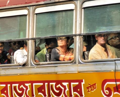 Vožnja z avtobusom v Indiji
