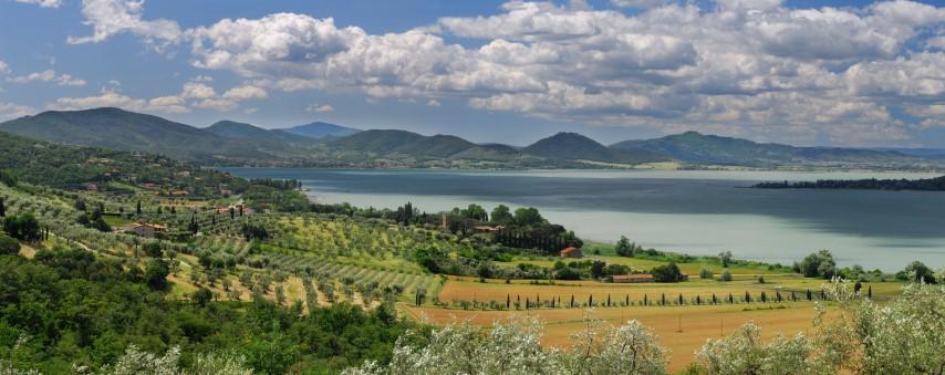 jezero Trasimeno v Umbriji