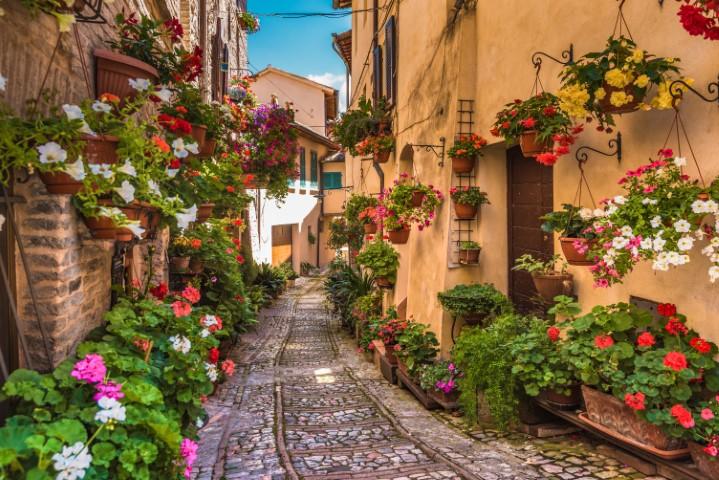 Srednjeveško mesto v Umbriji