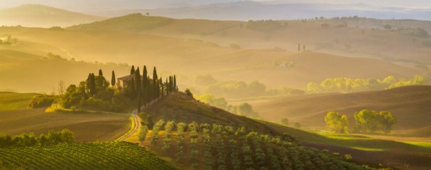 dolina Orcia, Toskana