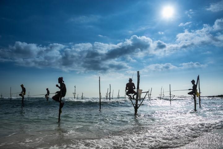 Ribiči na palicah, Šrilanka