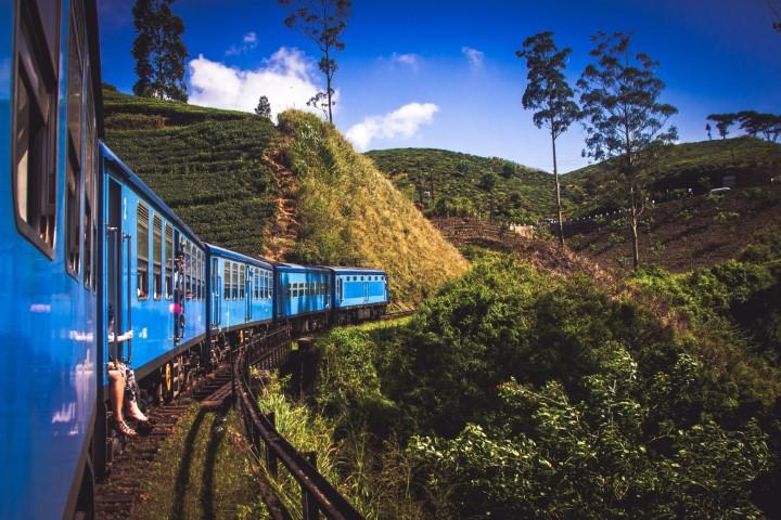 Vlak v Nawalapitiya, Šrilanka